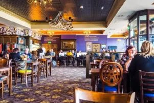 Inside a typical JD Wetherspoon pub