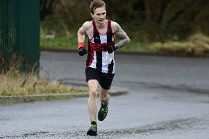 Jordan Strachan on his way to fourth place in the East Lancashire Hospice 10k in Great Harwood on Sunday
