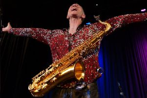 Snake Davis is back in town with some more classic saxophone solos at the Grand Theatre on Saturday, February 23rd. (s0