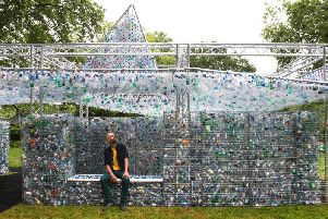 Nick Wood with Space of Waste at London Zoo last year. (s)