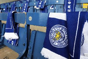 Leicester scarves at Turf Moor