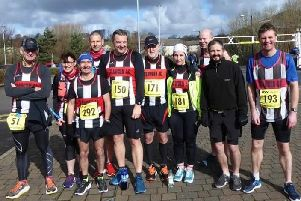 Some of the Trawden AC runners who took part in the Trimpell 20 Mile road race