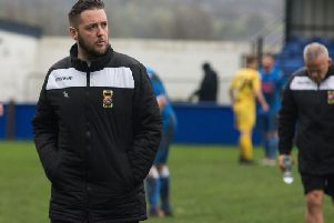 Former Padiham FC joint-manager, Liam Smith.