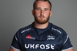 Burnley-born Sale Sharks loosehead, Jake Pope.