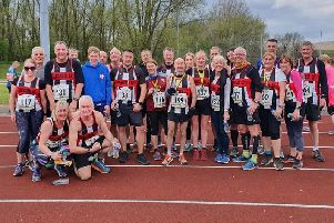 Some of the Trawden runners who took part in the Lancaster Three Bridges 10k on Sunday