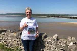 Rosemere fundraising coordinator Julie Hesmondhalgh has managed to secure a greater number of Cross Bay walk places for the charity this year.