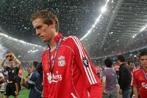 Peter Crouch in Athens following Liverpool's 2-1 defeat to Milan