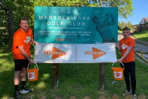 Best mates Patrick Macadam andJordan Whalleywill take on a golf marathon on June 21stat the Marsden Park Golf Club in aid of the MS Society. (s)