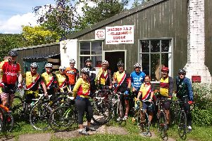 Some of the riders at Clarion House