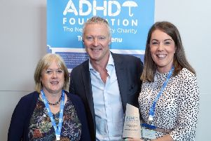 Comedian Rory Bremner presented the award to Pocklington Junior School at the ADHD Foundation conference.