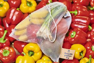 One of the new reusable veg bags.