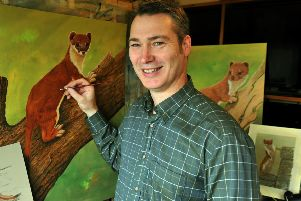 The exhibition, which will run until Sunday, December 1, will feature portraits of the UK's natural wildlife treasures, chosen and painted by acclaimed Yorkshire Wolds artist Robert E Fuller.