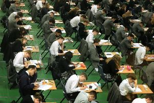 The data shows that 7.9% of pupils who sat their A-levels  received three A*-A grade ' down from 8.9% in 2017-18.