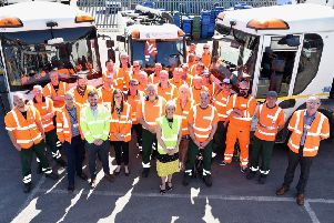 Members of the waste and recycling team at East Riding of Yorkshire Council.