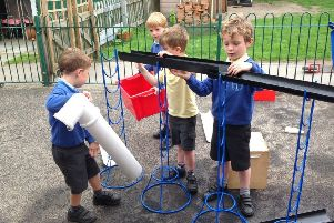 Headteacher Kris Henderson has invited prospective parents to a 'stay and play' session.
