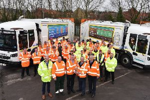 At an event held at East Riding of Yorkshire Council's depot in Willerby, the council's Leader Councillor Richard Burton was presented with what is the inaugural trophy for the top recycling council.