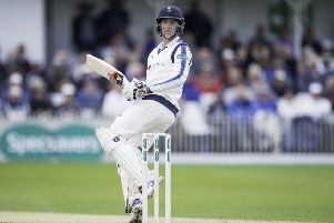 Yorkshire's Harry Brook in action against Essex (Picture: Allan McKenzie/SWPix.com)
