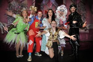 The Spa Theatre in Scarborough offers Jack and the Beanstalk this festive season. The cast ready for the big show.pic Richard Ponter 175507h