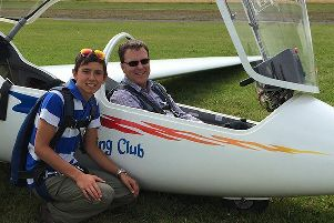 I had an unforgettable morning gliding over the beautiful countryside.