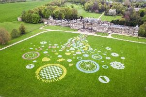 Last year's winning Confetti Land Art at Wentworth Woodhouse.