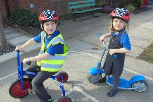 North Cave CofE Primary School pupils learn about road safety.