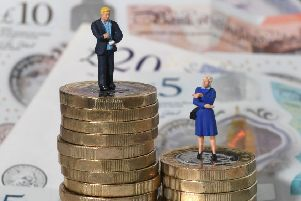 Women earned an average annual salary of �16,998 in 2018 ' 41% lower than the average man's salary of �28,739.