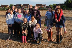 Students from Queen Margaret's School recently visited the Persimmon Homes archaeological dig in Pocklington.