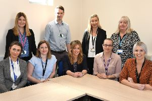 Staff and members of the East Riding Youth Offending Service which scored the country's first 'outstanding' rating from inspectors.