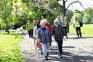 A 60-minute walk will take place every Tuesday at 10am.