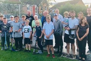 The skate park is extremely popular with children in Market Weighton.