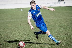 Mikey Dunn, on target for Pontefract Collieries.