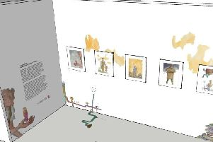 An image of how the Quentin Blake exhibition space will look.