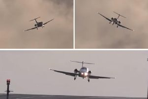 The astonishing footage was shot at Leeds Bradford Airport. PICS: AviationUpclose