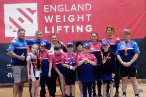 Featherstone Weightlifting Club lifters who enjoyed success in the English Championships.