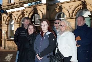 Concerns: Jennifer Webster (centre) said the closure of the branch would have a knock-on effect for businesses in Ossett.