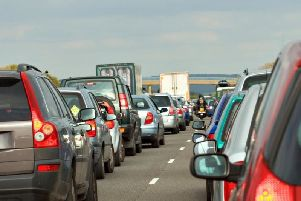 Tailbacks are being reported.