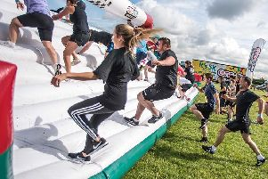 An obstacle on the Gung-Ho! course