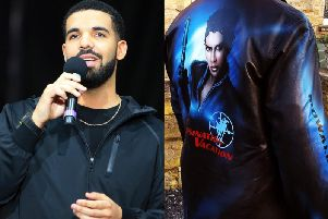 Canadian rapper Drake wore the jacket, which had been decorated by Wakefield artist Jenny Hutchinson, on Thursday night.