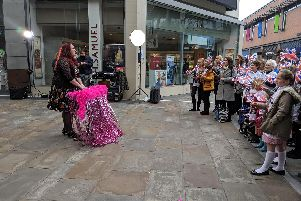 Britain's Got Talent star Siobhan Phillips was spotted filming a music video in Wakefield this afternoon.