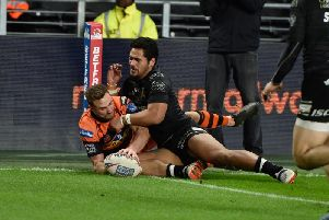 James Clare, a try scorer for Castleford Tigers at Hull in the Coral Challenge Cup. Picture: Matthew Merrick