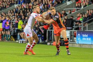 James Clare in action for Castleford Tigers.