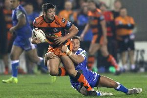Castleford Tigers' Chris Clarkson is back in contention to play against St Helens on Sunday.
