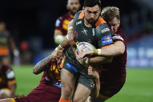 Matt Cook in action for Castleford Tigers this season.
