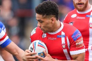 Salford's Derrell Olpherts is heading to Castleford in 2020 (Picture: Alex Whitehead/SWpix.com)