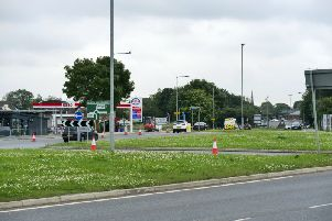 GV of Newton Hill roundabout and retail park. Picture Scott Merrylees
