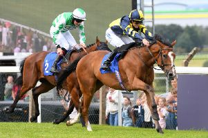 The Rutland Rebel and Patrick Millman win The Solution4cleaning Maiden Handicap Stakes at Pontefract's most recent meeting. Picture: Alan Wright-focusonracing.com