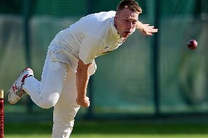 Matthew Waite bowling for Methley against Cleckheaton. Picture: Paul Butterfield