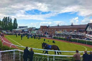 The parade ring at Pontefract.