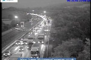 Junction 29 of the M1 souithbound.