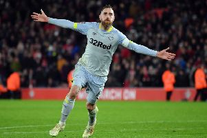 Derby County skipper Richard Keogh, who is set to be sidelined for 15 months after being involved in a car crash. (PHOTO BY: Dan Mullan/Getty Images)